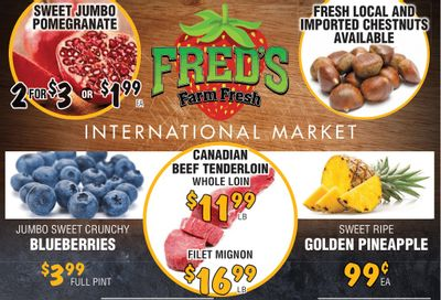 Fred's Farm Fresh Flyer October 20 to 26