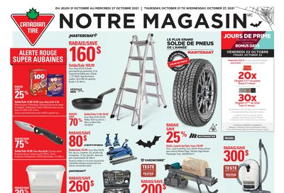 Canadian Tire (QC) Flyer October 21 to 27