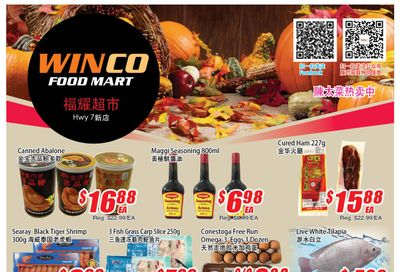 WinCo Food Mart (HWY 7) Flyer October 21 to 27