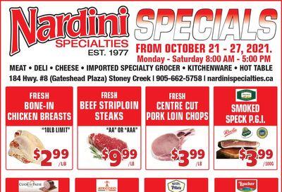 Nardini Specialties Flyer October 21 to 27
