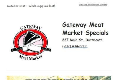 Gateway Meat Market Flyer October 21 to 27