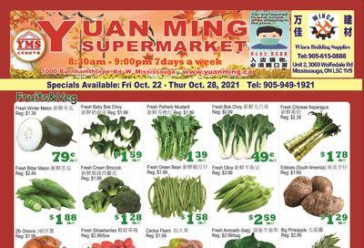 Yuan Ming Supermarket Flyer October 22 to 28