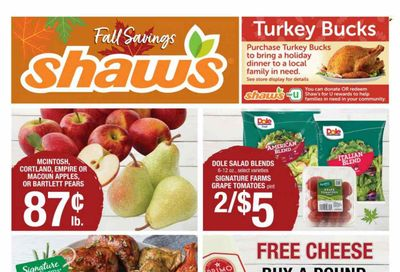 Shaw's (MA, ME, NH, RI, VT) Weekly Ad Flyer October 21 to October 28