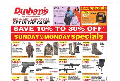 Dunham's Sports Weekly Ad Flyer October 21 to October 28