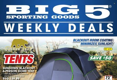 Big 5 (AZ, CA, CO, ID, NM, OR, UT, WA) Weekly Ad Flyer October 21 to October 28