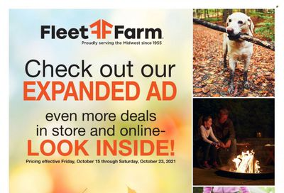 Fleet Farm (IA, MN, ND, WI) Weekly Ad Flyer October 21 to October 28