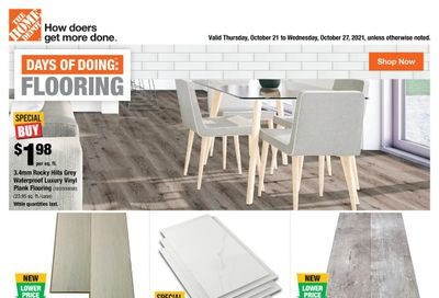 Home Depot (BC) Flyer October 21 to 27