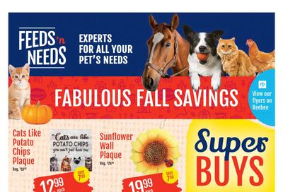 ShurGain Feeds'n Needs Flyer October 21 to 30