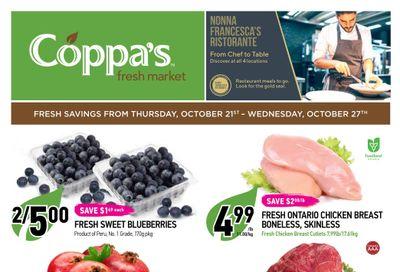 Coppa's Fresh Market Flyer October 21 to 27