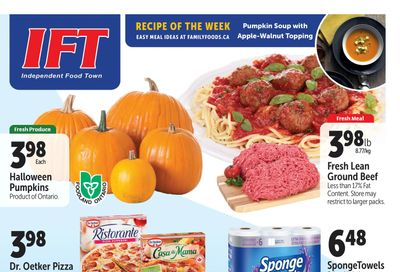 IFT Independent Food Town Flyer October 22 to 28
