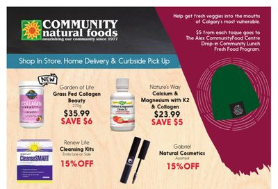 Community Natural Foods Flyer October 21 to 27