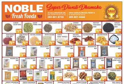 Noble Fresh Foods Flyer October 21 to 27