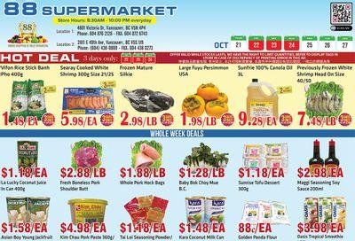 88 Supermarket Flyer October 21 to 27