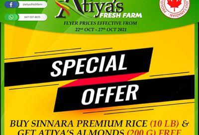 Atiya's Fresh Farm Flyer October 22 to 27