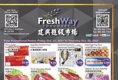 FreshWay Foodmart Flyer October 22 to 28