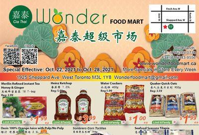 Wonder Food Mart Flyer October 22 to 28