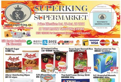 Superking Supermarket (London) Flyer October 22 to 28