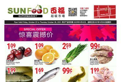 Sunfood Supermarket Flyer October 22 to 28