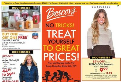 Boscov's (CT, DE, MD, NJ, NY, PA) Weekly Ad Flyer October 21 to October 28