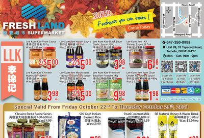 FreshLand Supermarket Flyer October 22 to 28