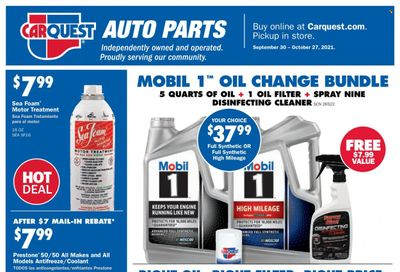 Carquest Weekly Ad Flyer October 22 to October 29