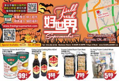 Field Fresh Supermarket Flyer October 22 to 28