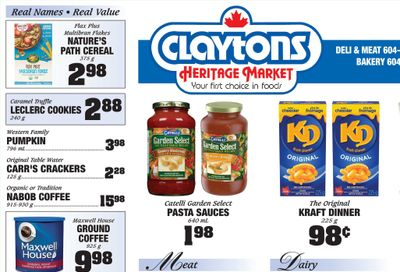 Claytons Heritage Market Flyer October 22 to 28