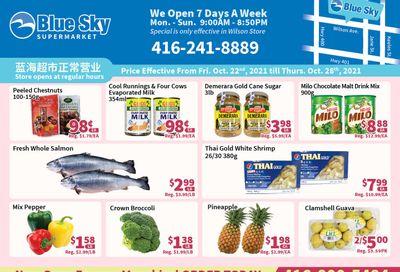 Blue Sky Supermarket (North York) Flyer October 22 to 28