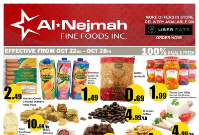 Alnejmah Fine Foods Inc. Flyer October 22 to 28