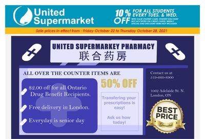United Supermarket Flyer October 22 to 28