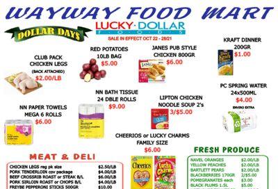 WayWay Food Mart Flyer October 22 to 28