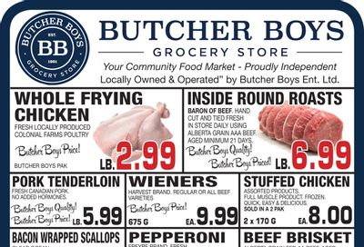 Butcher Boys Grocery Store Flyer October 22 to 28