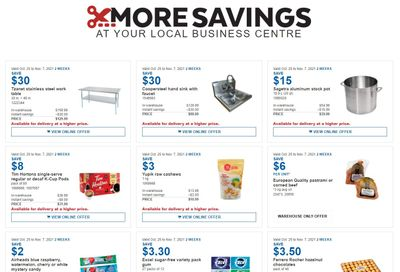 Costco Business Centre Instant Savings Flyer October 25 to November 7