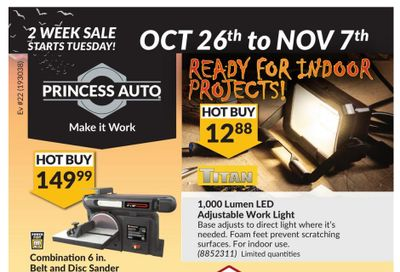 Princess Auto Flyer October 26 to November 7