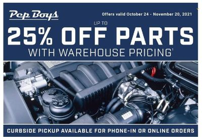 Pep Boys Weekly Ad Flyer October 25 to November 1