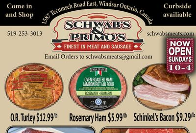 Schwab's & Primo's Flyer October 26 to 31