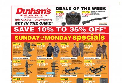 Dunham's Sports (TN) Weekly Ad Flyer October 25 to November 1