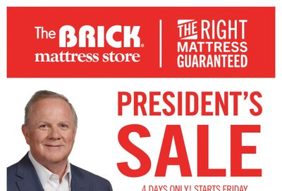 The Brick Mattress Store Flyer October 22 to 25