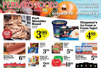 Ferraro Foods Flyer October 26 to November 8