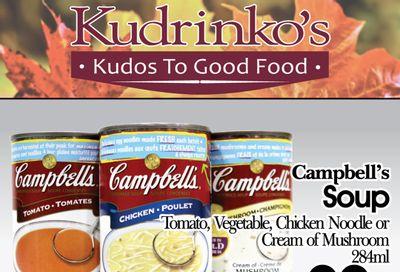 Kudrinko's Flyer October 26 to November 8