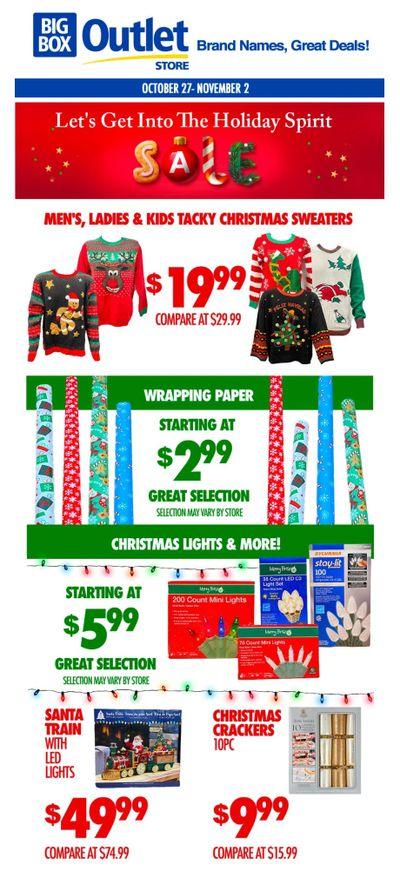 Big Box Outlet Store Flyer October 27 to November 2
