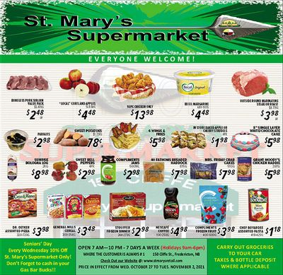St. Mary's Supermarket Flyer October 27 to November 2
