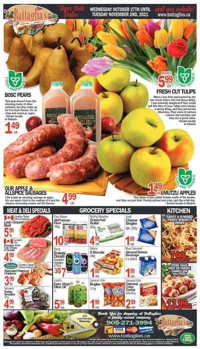 Battaglia's Marketplace Flyer October 27 to November 2