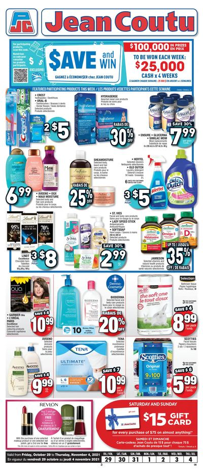Jean Coutu (ON) Flyer October 29 to November 4