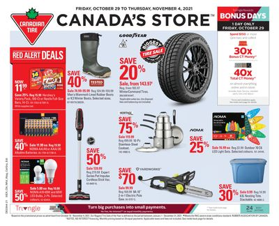 Canadian Tire (Atlantic) Flyer October 29 to November 4