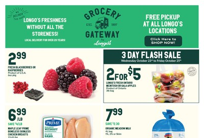 Longo's Grocery Gateway Flyer October 23 to 29