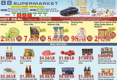 88 Supermarket Flyer March 19 to 25
