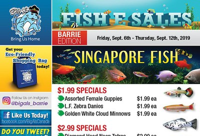 Big Al's (Barrie) Weekly Specials September 6 to 12