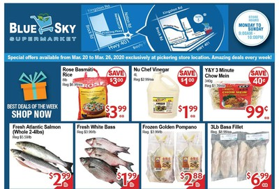 Blue Sky Supermarket (Pickering) Flyer March 20 to 26