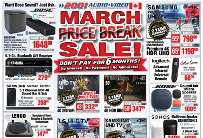 2001 Audio Video Flyer March 20 to 26